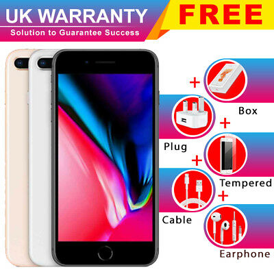 Apple iPhone 8 Plus 64GB 256GB Unlocked Smartphone ACCESSORIES UK WARRANTY