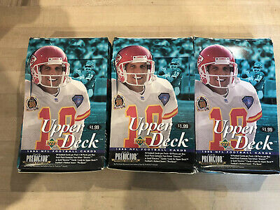 Lot Of 3 1995 Upper Deck Football Boxes - Boxes Not Sealed, Packs Are Sealed NFL