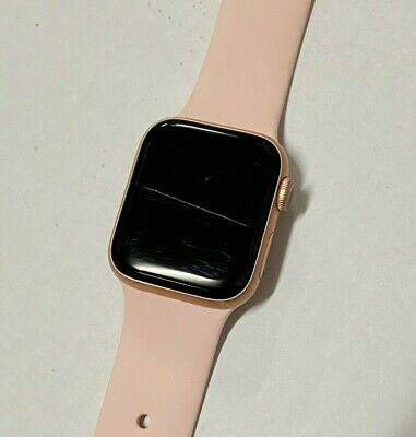 Apple Watch Series 4 44mm Gold Aluminum Case with Pink Sand Sport Band (GPS+LTE)