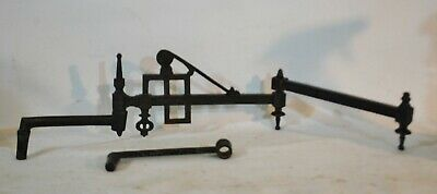 Antique Cast Iron Ornate Wall Bracket Holder Hook Towel Rack / Planter Hanger  !