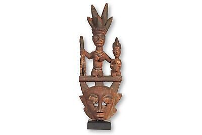 "Yoruba Mask with Superstructure on Stand 31"" - Nigeria - African Art"