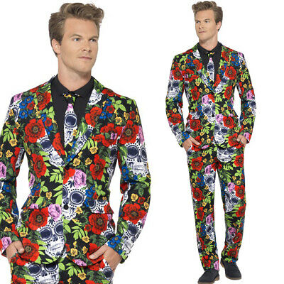 Day Of The Dead Stand Out Suit – Mens Halloween Fancy Dress