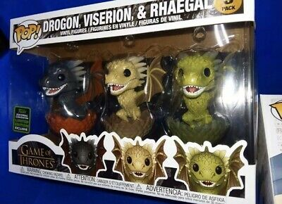Funko ECCC 2020 Game of Thrones Dragons 3 Pack Exclusive Preorder SHARED STICKER