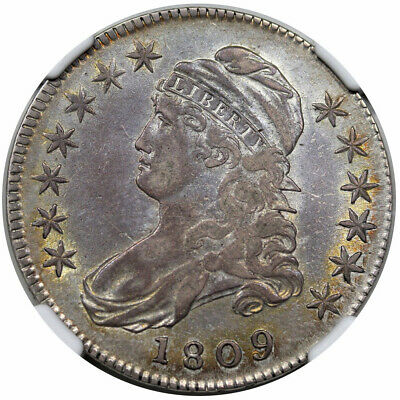 1809 Bust Half Dollar III Edge NGC XF-45 CAC Great Eye Appeal!!