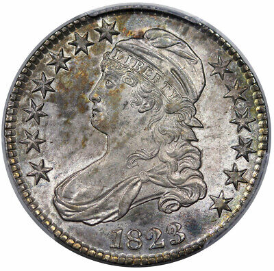 1823 Bust Half Dollar O-111 EDS PCGS MS-64+ CAC Great Eye Appeal!!