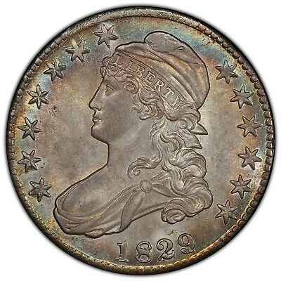 1829/7 Bust Half Dollar O-101 PCGS MS-64 CAC Great Eye Appeal!!