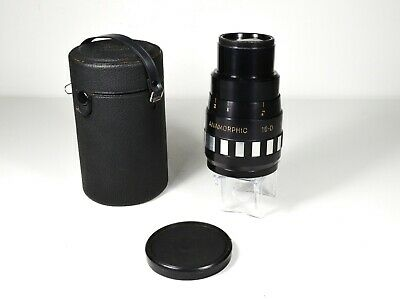 Singer/Graflex 16-D Anamorphic lens, good cond., has issues, with one cap & case