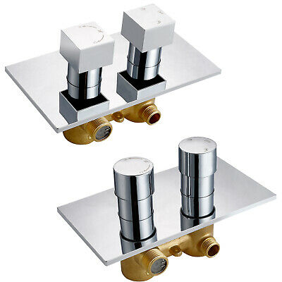 1 / 2 / Way Chrome Concealed Thermostatic Shower Mixer Valve Solid Brass WRAS