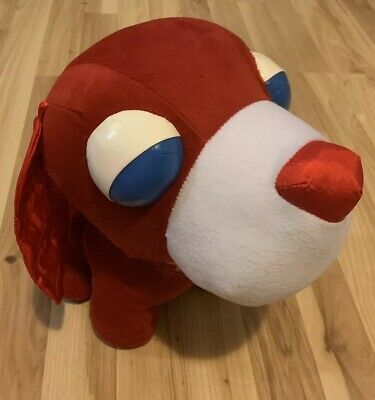 "Red ARU 12"" Ochaken Tea Dog  SEGA San-x Plush Japan Stuffed Animal Game Toy"