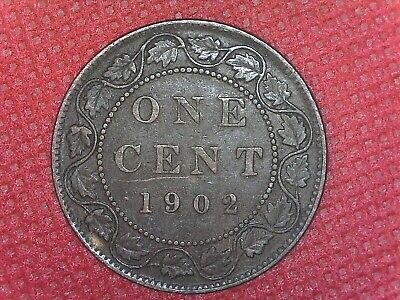 1902 Copper Canadian Large Cent Coin 1-Cent Canada
