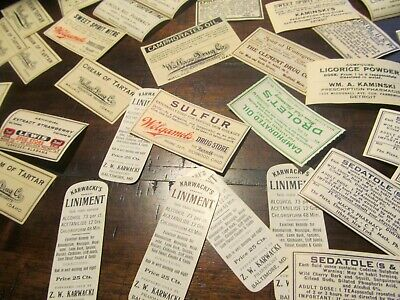 Huge Lot Of Pharmacy Labels;Lot # H 2