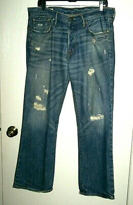 ABERCROMBIE & FITCH Distressed KILBURN BOOT BUTTON FLY Jeans Men W32 L30 32 x 30