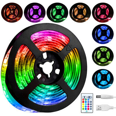 5050 Rgb Led Strip Lights Color Changing Tape Under Cabinet Light Waterproof-2M