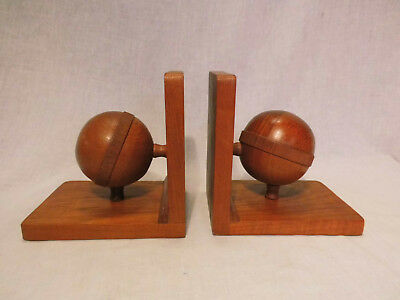 Teak Book Support Bookends mid Century Modern Danish Design 50s 60s 50er 60er