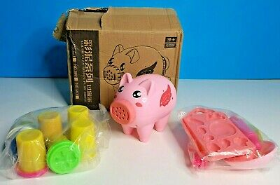 New!!! STOBOK Coloured Clay Play Doh Noodle Machine Creative Pig Shape