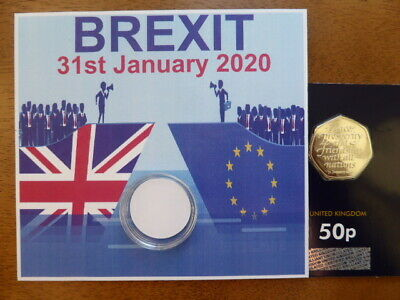 brand new brexit 50p coin brilliant uncirculated ONLY 5 AVAILABLE, COIN IN HAND