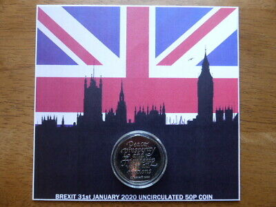 RARE brand new brexit 50p coin uncirculated from sealed bag.ONLY 3 AVAILABLE