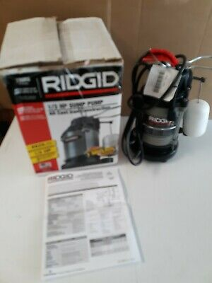 RIDGID 1/3 HP Cast Iron Sump Pump 330RS Runs Smoothly/Quietly Switches On/Off