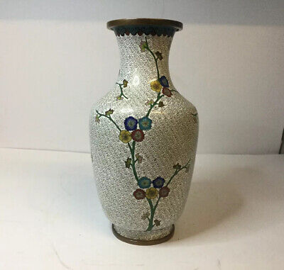 "Antique Chinese Cloisonne Vase, Early 20th Century, 9"" High, Republic Period"