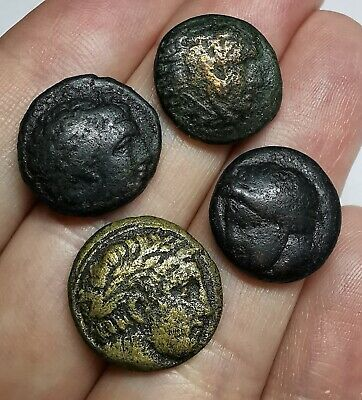 Ancient Greek (Macedonian Kings) Bronze Coins LOT - 4 pieces SEE PICTURE!!