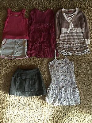 girls clothes bundle age 4-5 years Mayoral, Joules, Soft Grey, Ginkana, 7 Items