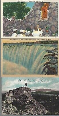 Vintage  Scenic Postcards Circa 1800's-1900's Lot of 5 Niagra Falls *