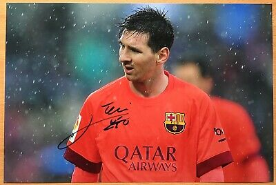 "LIONEL MESSI,GENUINE HAND SIGNED 8"" x 12"" PHOTO,+ COA,LIFE TIME GUARANTEE"