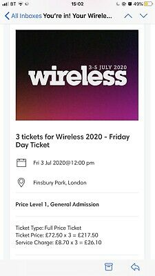 1 Wireless Festival Ticket Friday 3rd July 2020