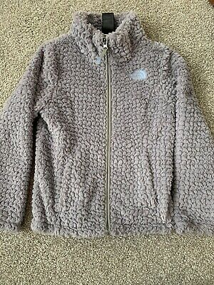 The North Face girls Laurel fleece Lined jacket size XS extra small 6 Gray Euc
