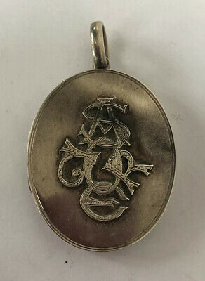 Antique Large Solid Antique Victorian Solid Silver Photo Locket