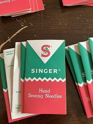 vintage Singer Advertising Hand Sewing Needles From 70's