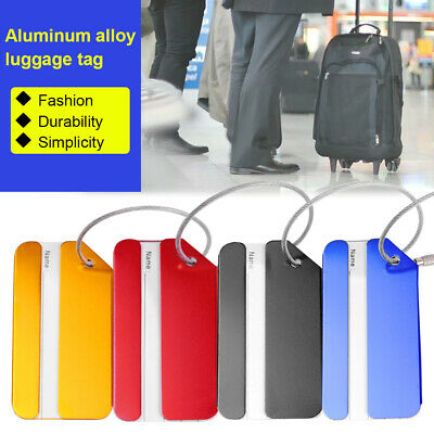 4 X Travel Luggage Tag Metal Suitcase Baggage Bag Office Name Address ID Label