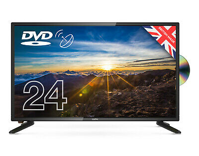 """CELLO 24"""" inch LED TV DVD FREEVIEW HD HDMI, USB & VGA NEW 2020 MODEL MADE IN UK"""