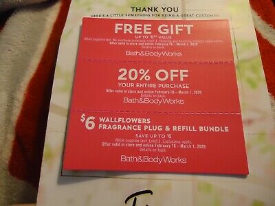 Bath and Body Works Coupons  Feb 10-March 1, 2020  See Pics for details