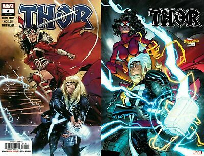 Thor #4 2020 Stegman & Garron Spider-Woman Cover Set Of 2 (Cates) Nm Or Better