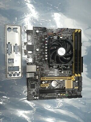 ASUS motherboard A55BM-E with an AMD A6-6400K(3.9GHz), 4GB RAM, & I/O Shield