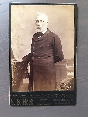 CABINET CARD Gent/Chair/ By E.B.Nock Artistic Photographer Cleveland Ohio Sign