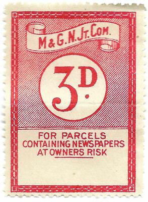 Midland & Great Northern Joint Committee Railway Parcel Stamp 3d