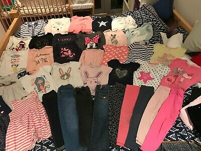 HUGE Girls Age 3-4 Years Clothes Bundle - George, Primark, H&M, M&S, Matalan