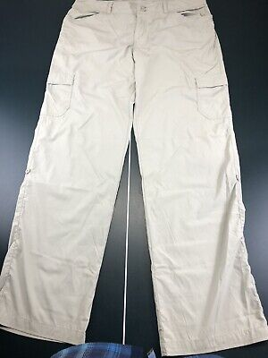 Patagonia Women's Outdoor Hiking Pants Cargo Casual Nylon Roll Up Size 12