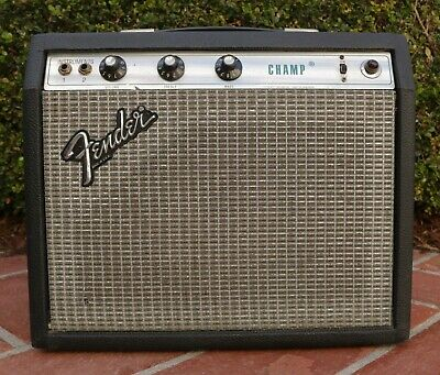 Vintage 1979 Fender Champ Amp Guitar Amplifier Silverface Tube • Made in USA