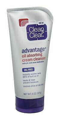 Clean & Clear Oil Absorbing Cream Facial Cleanser with Salicylic Acid Acne