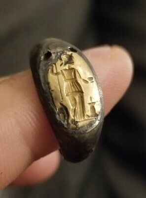Ancient Roman Intaglio Gold And Silver Ring