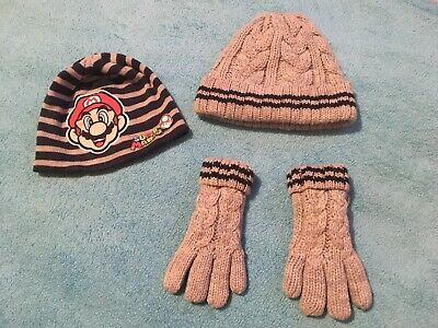 Next Boys Hat And Gloves 5-6yrs