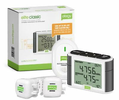 Wireless Electricity Monitor Audible Alert to Notify Portable Compact Display