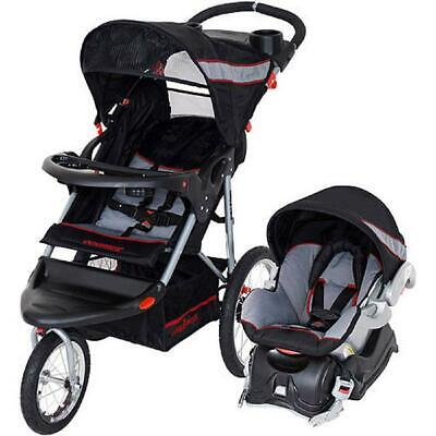 Jogger Baby Travel System Infant Stroller Car Seat Adjustable With Storage NEW