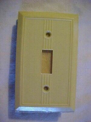 5 NOS Vintage GITS Molding Art Deco Ivory Bakelite LUMINOUS Gang Switch Plates