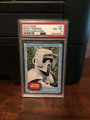 2019 Topps Star Wars Living Set Scout Trooper #34 PSA 8 NM-MT