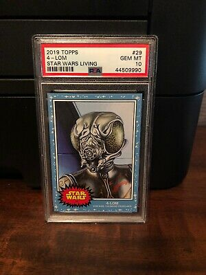 2019 Topps Star Wars Living Set 4-Lom #29 PSA 10 Gem Mint