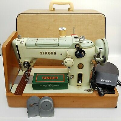 1956-61 Vintage Rare Electric Singer Sewing Machine 319K *Working*